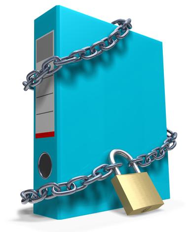 Locked blue folder